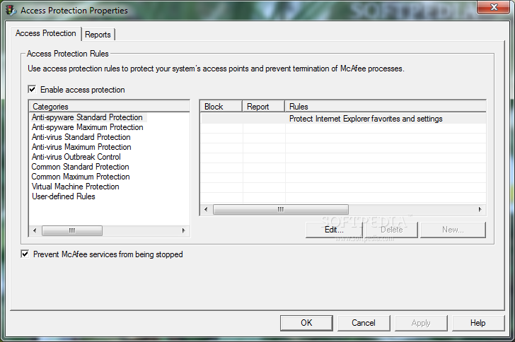 Screenshot 4 of McAfee VirusScan Enterprise.